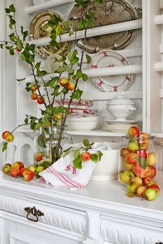 VIBEKE DESIGN. white wood and apples