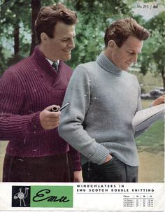 1950's VINTAGE Mens Polo or Shawl Neck Jumper in by Hobohooks, £1.20