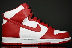 Nike Air Dunk in Red and White