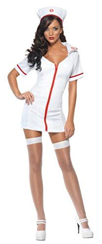 Smiffy's Fever Sexy Nurse Costume with Dress and Hat - Sm...…