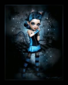Cats in the shadows Halloween Snacks, Halloween Art, Gothic Fantasy Art, Gothic Fairy, Beautiful Fairies, Beautiful Dolls, Rockabilly Artwork, Koi, Disney Pin Up