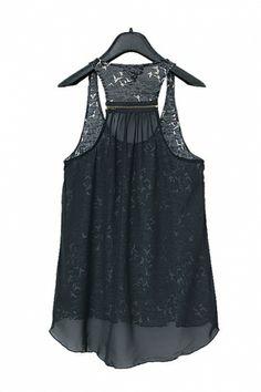 Awesome Zip Detailing! Beautiful Fabric! Seagull Print High-low Hem Chiffon Vest