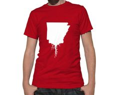 Arkansas Roots State TShirt  Unisex Adult Short by HometownRoots, $28.00
