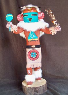 Vintage Hopi 22 Inch Thunder Kachina Doll By Jameson by SanMonet, $2500.00 Thunder, Vintage Art, Nativity, Native American, Masks, Dolls, Unique Jewelry, Handmade Gifts, Etsy