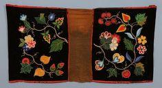 "19TH C. Northern Plains Beaded Velvet Saddle Blanket with Floral Design 21"" x 39"""