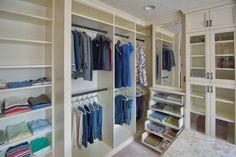 A sneak peek of Closet Factory Allentown's LVBA award winning closet!  Learn more here: https://www.closetfactory.com/blog/closet-factory-allentown-lvba-award-closet/ Closet Layout, Custom Closets, Closet Organization, Walk In Closet, Organizers, Envy, Custom Cabinetry, Dressing Room, Dresser In Closet