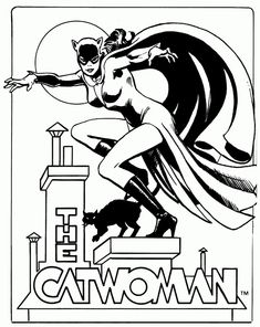 catwoman coloring pages to print Batman Coloring Pages, Coloring Pages To Print, Coloring Pages For Kids, Coloring Books, Colouring, Catwoman, Superhero Emblems, Cartoon Tutorial, Villains Party