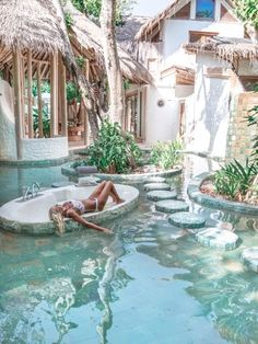 21 beautiful ideas for the design of the swimming pool garden 4 - Reisen - # . Oh The Places You'll Go, Places To Travel, Travel Destinations, Holiday Destinations, Pool Garden, Garden Art, Dream Pools, Travel Goals, Freedom Travel