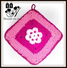 Agarradera elaborada al Crochet.