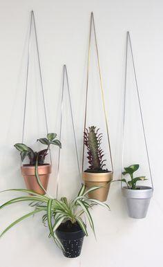 Cloud Nine Creative - Small Hanging Planter - Navy Dots