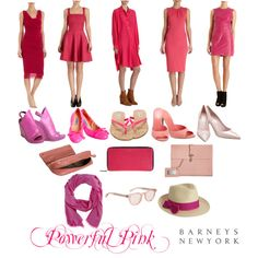 """Powerful Pink"" by barneysnewyork on Polyvore"