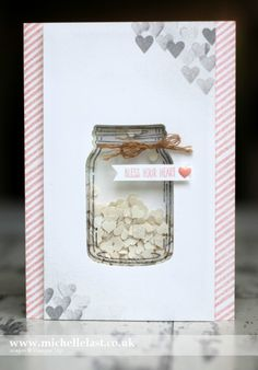 Jar of Love Shaker Card using Stampin Up Supplies                                                                                                                                                      More