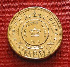 AUSTRALIA HOLEY DUMP 1813 & DOLLAR 2013 $1 BICENTENARY CANBERRA BEAUTIFUL COIN