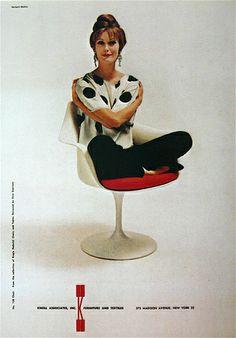 #2 By Herbert Matter: A Knoll International ad, New Yorker, 1 9 5 8.