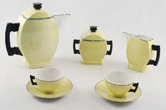 ćmielów - art deco (proj. wendo) Art Deco, Art Nouveau, Kitchenware, Tableware, Machine Age, Inspiring Art, Teapots, Teak, Coffee Maker