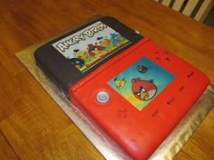 Nintendo cake - left side