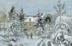 Camille Pissarro, maison-de-piette à montfoucault. Art-impressionnistes.