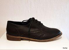 Derbies richelieu chaussures femme NOIR cuir mocassins 36 37 38 40 41    eBay Derbies, 245ba807413e