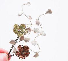 sequin flower bobby pins :)