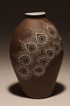 Sumiko Takada Vase I Columbus, OH Inlaid stoneware