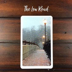 THE LOW ROAD #lifepathchallenge2017 Shuffle and pull a card at random to reflect the difficult path in this relationship. Look at the card from the perspective of walking it . What's difficult about walking this path?  . Is it uphill?  . A difficult surface to tread?  . Many obstacles in the way?  . Limited visibility?  . This card shows you what's difficult in your relationship or where you're having trouble making adjustments . On this path I'm crossing a bridge during the beginning of a…