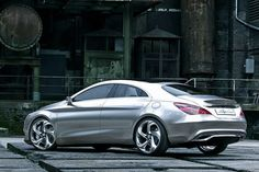 Mercedes CLA from behind