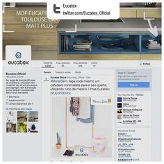 Produção de conteúdo e gerenciamento de rede social   Cliente: Eucatex   Rede social: twitter.com/Eucatex_Oficial   Exemplos de conteúdos produzidos: 1. twitter.com/Eucatex_Oficial/status/809005120587497472   2. twitter.com/Eucatex_Oficial/status/807193327112220672