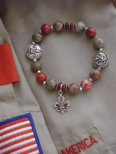 Ladies' BOY SCOUT BRACELET I want one when my son gets Eagle :)