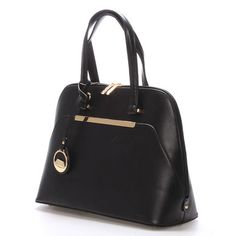 3047829c34  novinka Pevná středně velká černá kabelka David Jones v jemném elegantním  designu francouzského stylu.