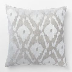 Velvet Ikat Embroidered Diamond Pillow Cover #westelm SARA's ROOM UPSTAIRS?