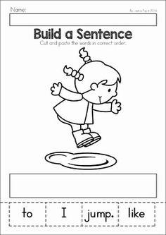 Spring Preschool No Prep Worksheets & Activities. A page from the unit: spring build a sentence Homeschool Kindergarten, Kindergarten Writing, Teaching Writing, Preschool Learning, Kindergarten Worksheets, Writing Activities, Daycare Curriculum, Vocabulary Activities, Teaching Spanish