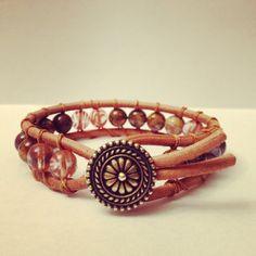 Leather single wrap beaded bracelet Handmade by ILoveWrapBracelets, $17.00