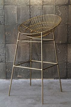 Hampstead Gold Bar Stool from Rockett St George
