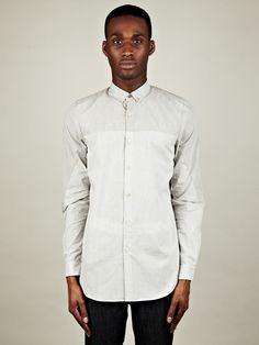 Paul Smith Men's Fine Check and Stripe Shirt in grey at oki-ni
