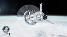 Realistic Spaceship Illustrations