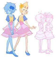 Steven Universe,фэндомы,anonymoose,SU art,Yellow Pearl,SU Персонажи,Blue Pearl