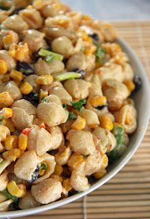 Spicy Southwest Pasta & Corn Salad With Chili Lime Dressing by joandsue.blogspot.com