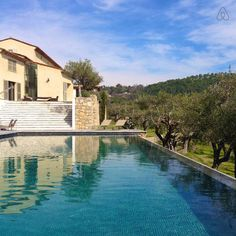 Fayence Tourette airbnb yoga want to go View from the pool house.