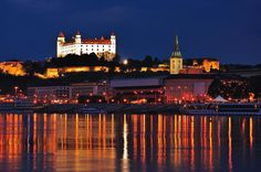 Bratislava by Night: Walking Tour Admire the beauty and history of Bratislava by night on a walking tour. A resident guide will lead you up a hill to Bratislava Castle and through the picturesque streets of Bratislava Old Town to see the majestic Slovak National Theatre and Reduta, home of the Slovak Philharmonic Orchestra. Cross the Danube River, ascend the famous UFO Observation Deck for fabulous views of the city and top the night off with a drink at its sky-high restaur...