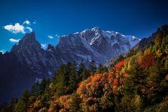A blush of Autumn. Mont Blanc France [2048x1365]   landscape Nature Photos
