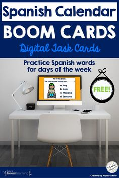 Make learning the days of the week in Spanish easy and fun with these free Boom Cards! These no-prep, self-checking digital task cards are the perfect way to introduce kids to the Spanish calendar! Best of all, they're FREE! #spanishforkids #spanishteaching #boomcards #boomlearning Spanish Teaching Resources, Teaching Materials, Teacher Resources, Homeschooling Resources, Spanish Lesson Plans, Spanish Lessons, Lesson Plan Templates, Spanish Teacher, Class Activities