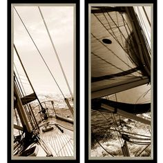 2 Piece Sailboat Framed Print Set: I'm just obsessed with these angles