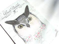 Soft Spring Owls Gift Tags Set of 6 Beautiful Eyes by SiriusFun, $5.50