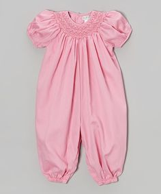 This Pink Smocked Bubble Playsuit - Infant by Petit Pomme is perfect! #zulilyfinds