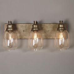 Beaker Glass Bath Light 3 Light Bath Light And Oil Rubbed Bronze