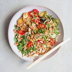 Spicy Veggie Noodle Bowl - DeliciouslyElla