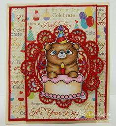 2 Cute Ink Digital Stamps Challenge Blog: Challenge #108 - Birthday Challenge- DT Member Christy