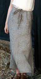 Saltmarsh drawstring waist maxi skirt with side seam pockets, in Workbook