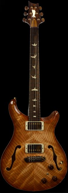 Wild West Guitars : PRS Private Stock #4442 Hollowbody II with Piezo Swamp Ash Double Stained Natural Smoke Burst.