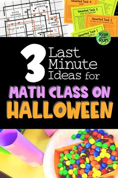 Low prep, last minute, fun math activities with a Halloween twist. I love these Halloween activities for math class and students will too. plus they will learn some math! Holiday Activities For Kids, Fun Math Activities, Halloween Activities, Math Resources, Math Games, Classroom Resources, 8th Grade Math, Math Class, Student Learning